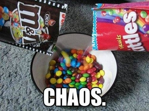 candy,chaos,m&ms,skittles,m&ms