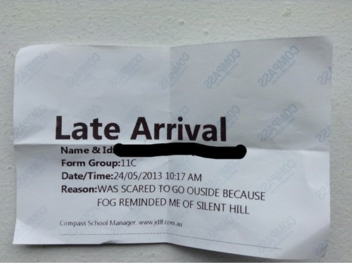 silent hill late funny pass g rated School of FAIL - 8131277312
