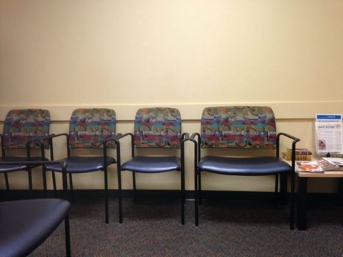 monday thru friday,chair,waiting room,work