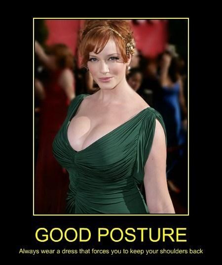 Christina Hendricks posture funny - 8131306240