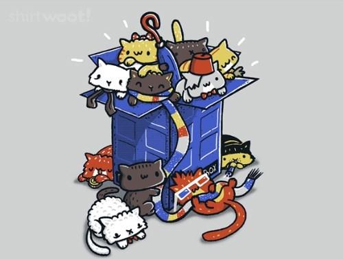 tshirts tardis Cats - 8131379712