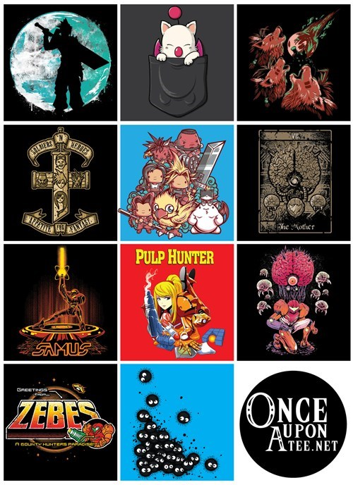 final fantasy,Metroid,tshirts