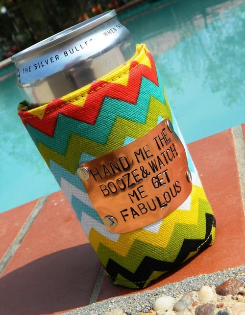 beer drunk koozie fabulous - 8131418368
