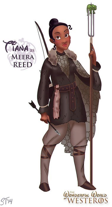 "Cartoon - CIANA as МEERA REED THE ONDERFUL STM ""WESTEROS"