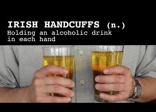 beer irish handcuffs funny - 8131449088
