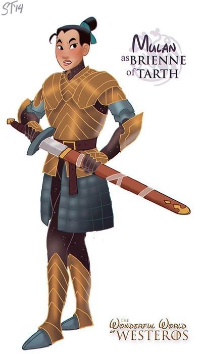 Cartoon - ST1H MuLAN as BRIENNE of TARTH ONDERFUL ORLD WESTEROS THE