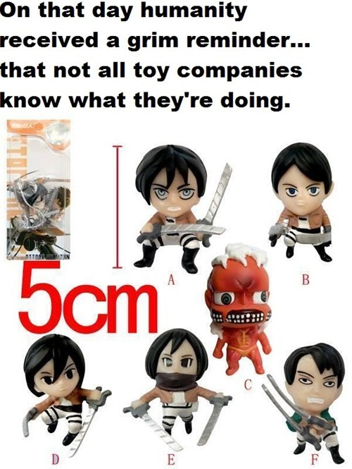 toys anime attack on titan - 8131495424