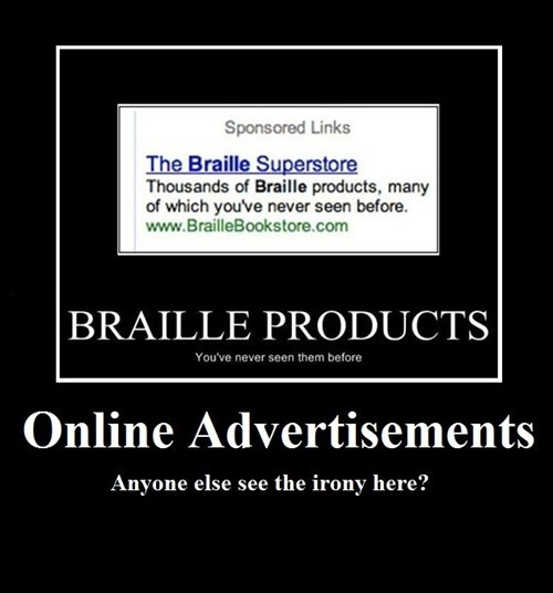 ads irony funny - 8131510272