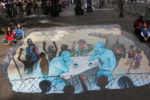 Street Art barack obama Vladimir Putin politics - 8131604736
