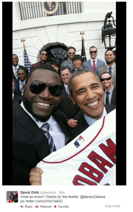 selfie sports baseball barack obama
