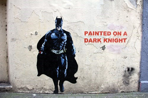Street Art art graffiti hacked irl batman - 8131637760