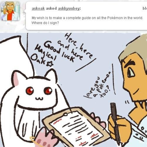 professor oak Puella Magi Madoka Magica crossover anime kyubey - 8131776768