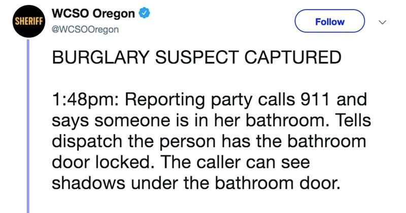 cops responding to a burglary