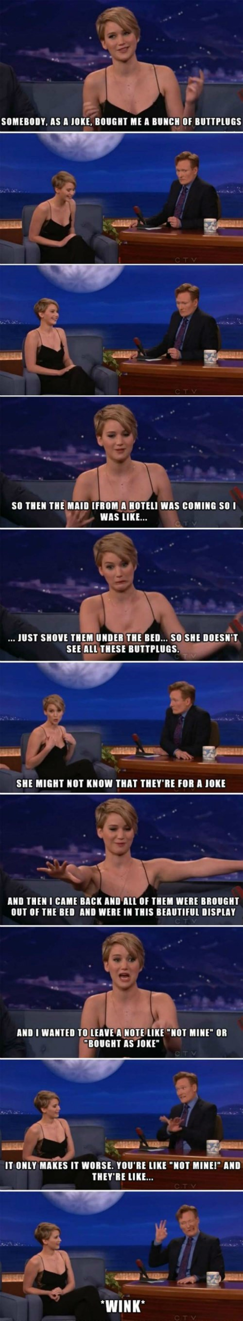 Jennifer Lawrence and Her Collection of Buttplugs