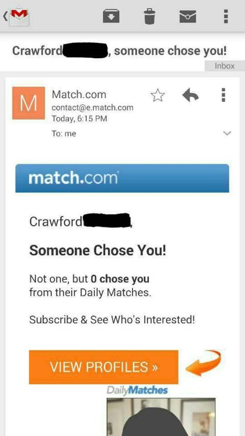 forever alone,dating,Match.com