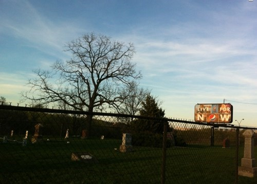 monday thru friday advertisement billboard cemetery work placement