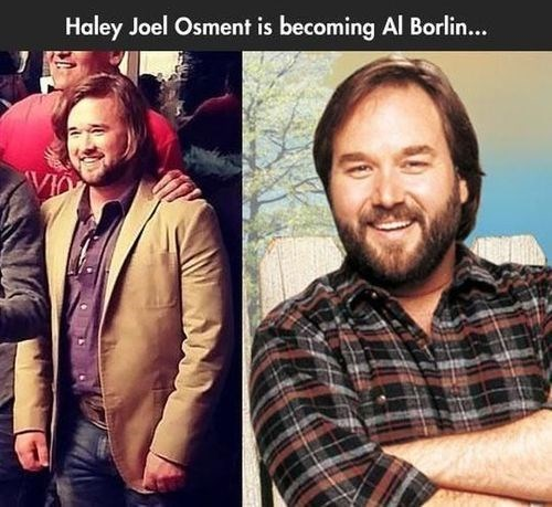 haley joel osment,al borland,lookalikes,home improvement,celeb,funny