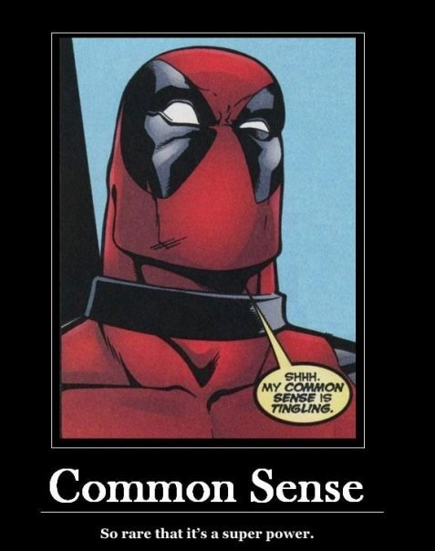 superpowers deadpool common sense funny - 8132595200