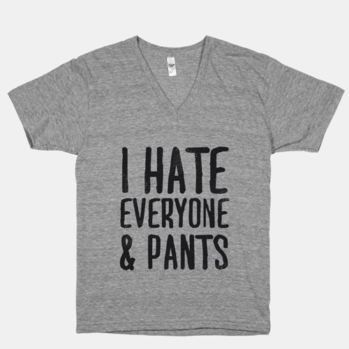 pantsless poorly dressed words t shirts no pants - 8132624128