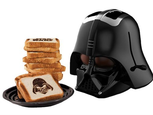 star wars design nerdgasm toaster darth vader