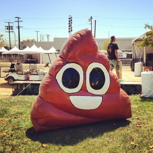 poop emoji inflatable - 8132655616