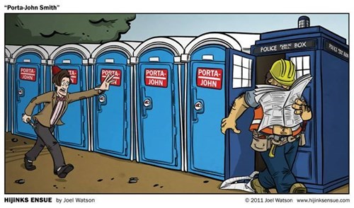 porta potty tardis 11th Doctor web comics - 8132756224