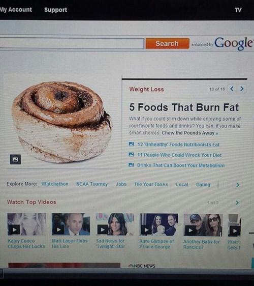 diet Cinnabon exercise cinnamon buns food obesity