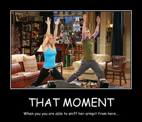 armpit,big bang theory,funny,yoga