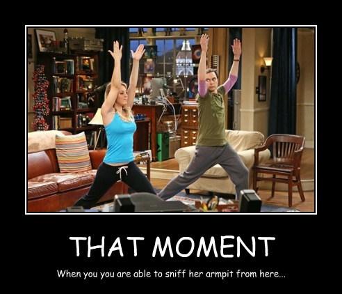 armpit big bang theory funny yoga - 8133025536