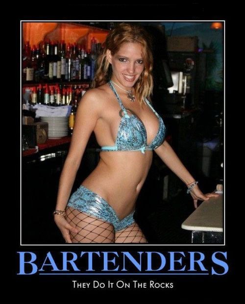Sexy Ladies uncomfortable bartender funny - 8133862144