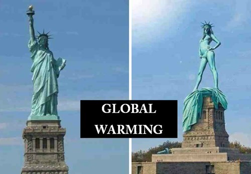 global warming Statue of Liberty - 8133893632