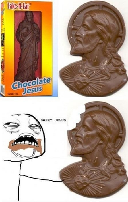 easter,sweet jesus,chocolate,Rage Comics