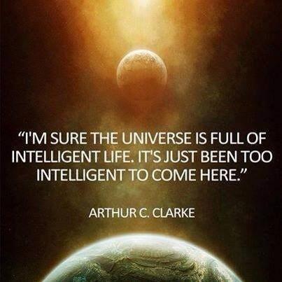 Aliens,arthur c clark,universe,funny