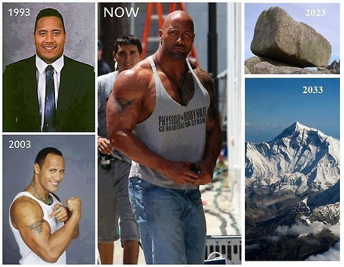 Dwayne Johnson,evolution,strong,the rock