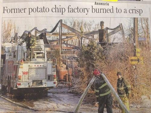newspapers headlines potato chip factory - 8134227712