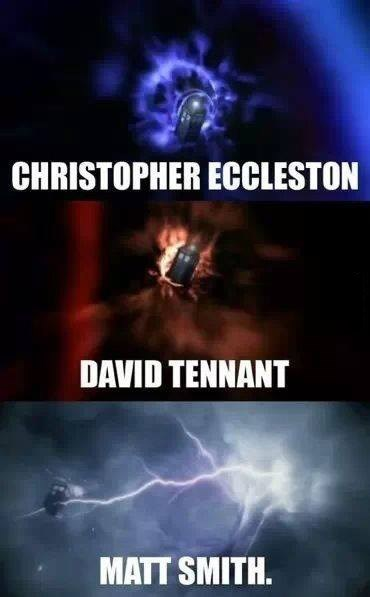 9th doctor 11th Doctor 10th doctor opening credits - 8134245376