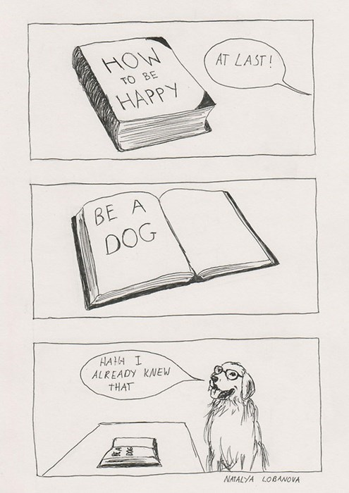 dogs comics happy