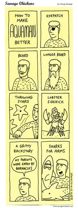 aquaman superheroes beards web comics - 8134288640