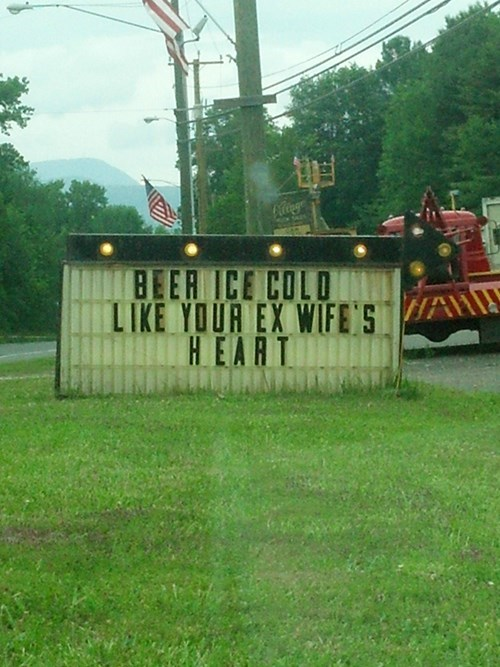 beer sign cold funny - 8134322688