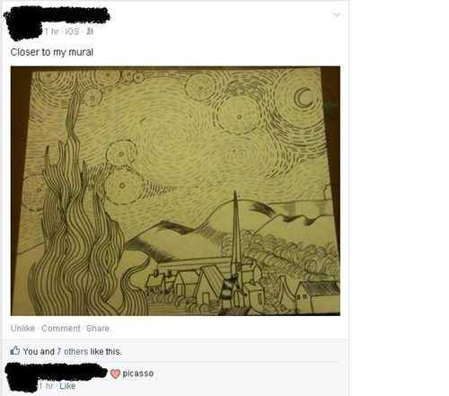 art facepalm starry night failbook g rated - 8134379008