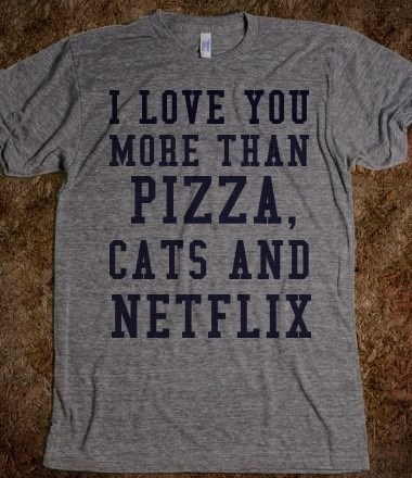 Cats netflix funny love pizza - 8134554624