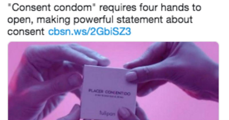 women criticize consent condoms