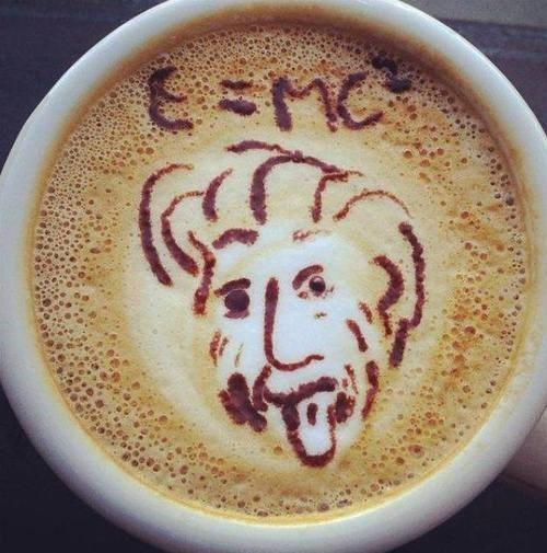 coffee,albert einstein,funny