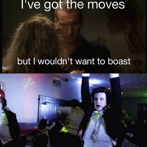 9th doctor 11th Doctor dances - 8135287296