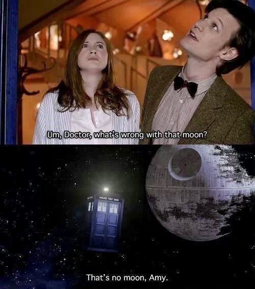 amy pond 11th Doctor Death Star star wars