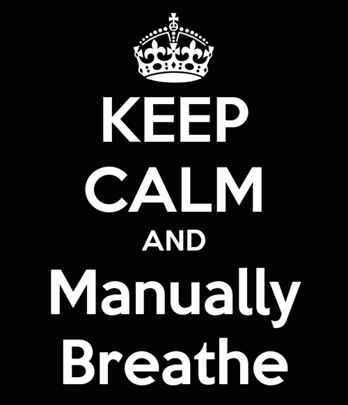 keep calm,manual breathing