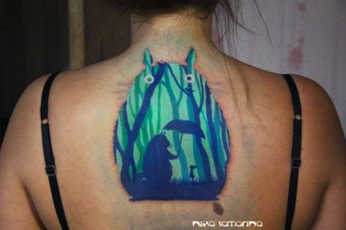 nerdgasm,tatoos,my neighbor totoro