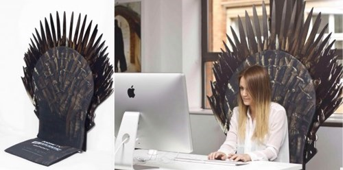 Game of Thrones Office iron throne - 8135391744