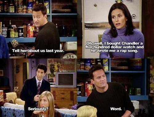chandler bing rap friends funny - 8135398400