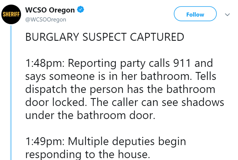 911 roomba Burglary tweets police - 8135941